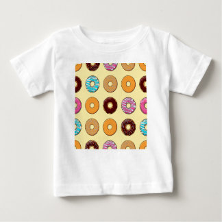 Donut Pattern on Yellow Baby T-Shirt