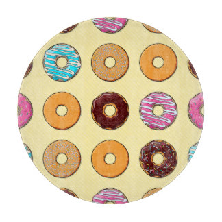 Donut Pattern on Yellow Boards