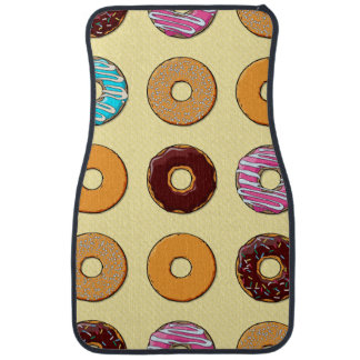 Donut Pattern on Yellow Car Mat