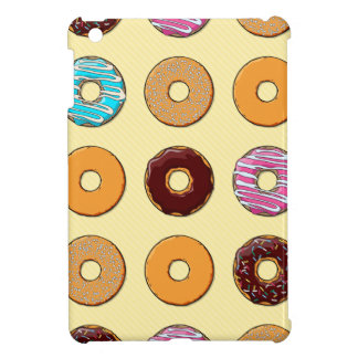 Donut Pattern on Yellow Case For The iPad Mini
