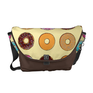 Donut Pattern on Yellow Commuter Bag