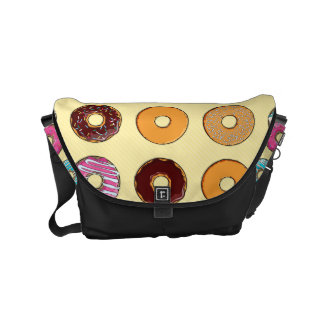 Donut Pattern on Yellow Courier Bags