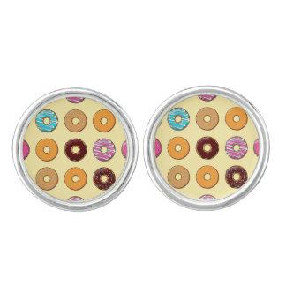 Donut Pattern on Yellow Cufflinks