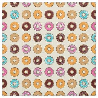 Donut Pattern on Yellow Fabric