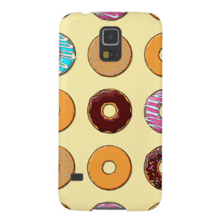 Donut Pattern on Yellow Galaxy S5 Cover