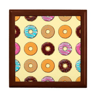 Donut Pattern on Yellow Gift Box