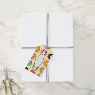 Donut Pattern on Yellow Gift Tags