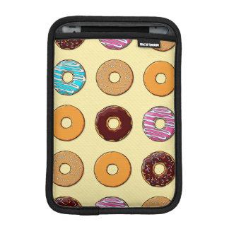 Donut Pattern on Yellow iPad Mini Sleeve
