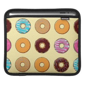 Donut Pattern on Yellow iPad Sleeve
