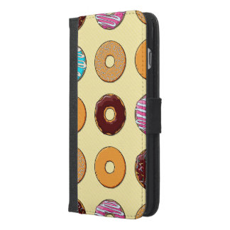 Donut Pattern on Yellow iPhone 6/6s Plus Wallet Case