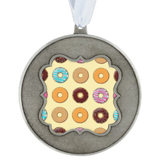 Donut Pattern on Yellow Ornament