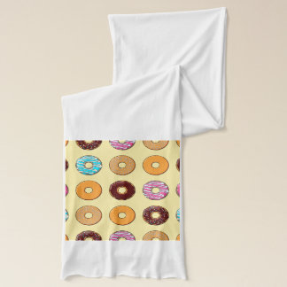 Donut Pattern on Yellow Scarf