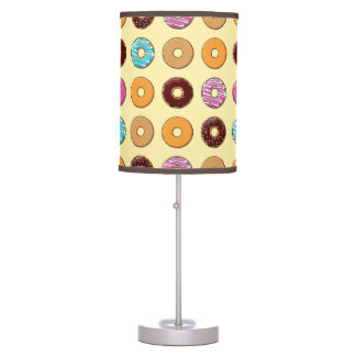 Donut Pattern on Yellow Table Lamp