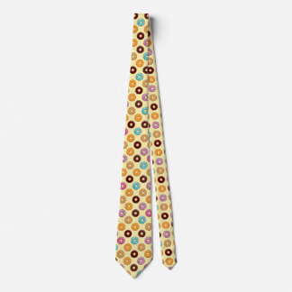 Donut Pattern on Yellow Tie