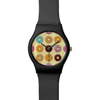 Donut Pattern on Yellow Watch