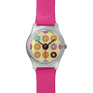 Donut Pattern on Yellow Watch