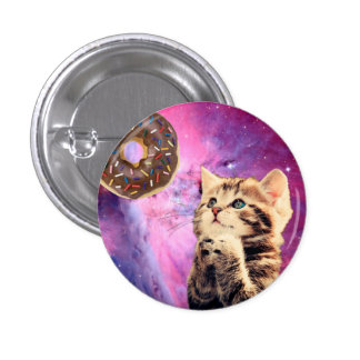 Donut Praying Cat 1 Inch Round Button