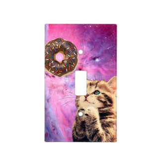 Donut Praying Cat Light Switch Cover