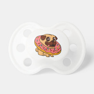 Donut pug pacifier