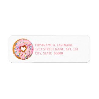 Donut Return Address Label