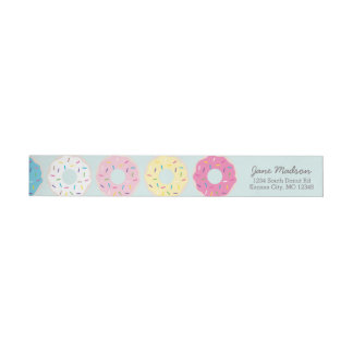Donut Return Address Labels | Donut Party