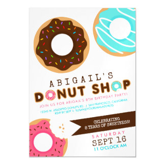 Donut Shop Birthday Party Magnetic Card