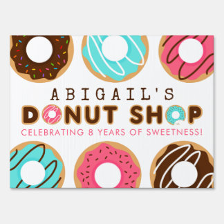 Donut Shop Birthday Party Sign