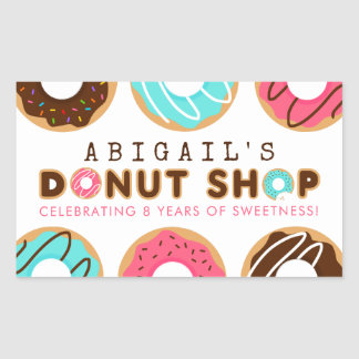 Donut Shop Birthday Party Sticker