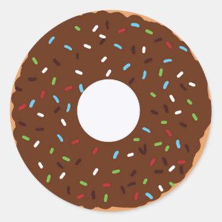 Donut Thank you Classic Round Sticker