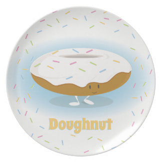 Donut with Sprinkles | Melamine Plate