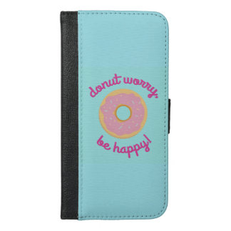 Donut worry iPhone 6/6s plus wallet case