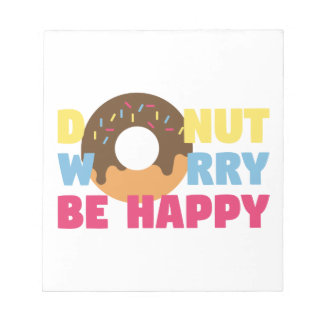 Donut Worry Notepad