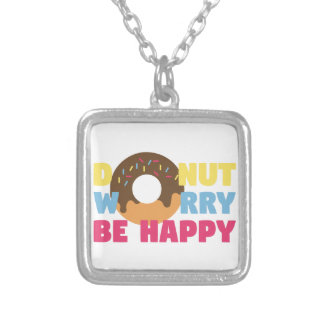 Donut Worry Silver Plated Necklace