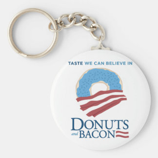 Donuts and Bacon: Taste we can Believe in Key Chain