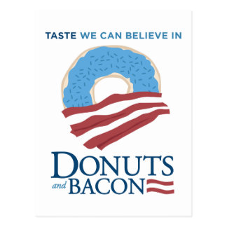 Donuts and Bacon: Taste we can Believe in Post Cards