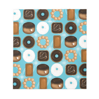 Donuts Blue Notepad