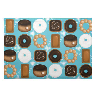 Donuts Blue Placemat