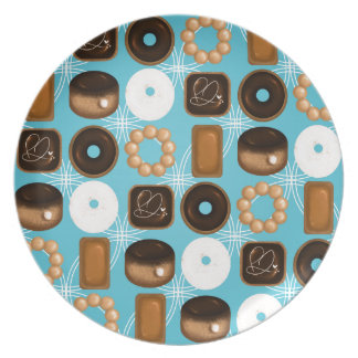 Donuts Blue Plate