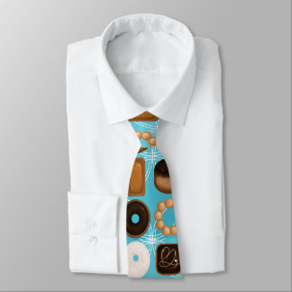 Donuts Blue Tie