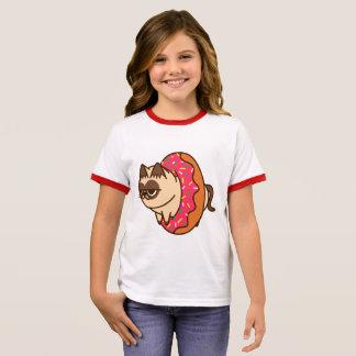 Donuts Cats pink Ringer T-Shirt