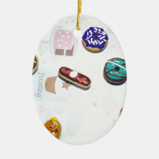 Donuts Ceramic Ornament