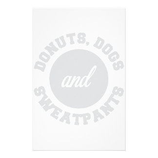 Donuts Dogs Sweatpants Stationery