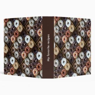Donuts Doughnuts Dessert Recipe Book Vinyl Binder