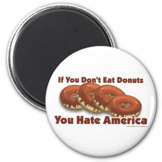 Donuts For America 2 Inch Round Magnet