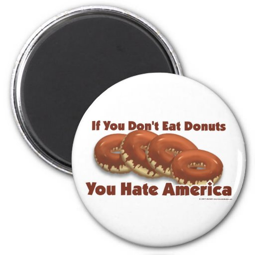 Donuts For America Refrigerator Magnet