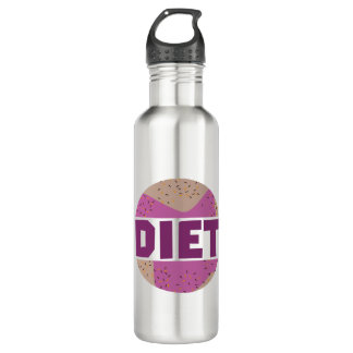 Donuts for diet Z16p9 710 Ml Water Bottle