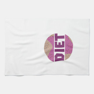 Donuts for diet Z16p9 Kitchen Towel