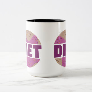 Donuts for diet Z16p9 Two-Tone Coffee Mug