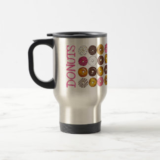 DONUTS FOR YOU Doughnut Breakfast Junk Food Love Travel Mug