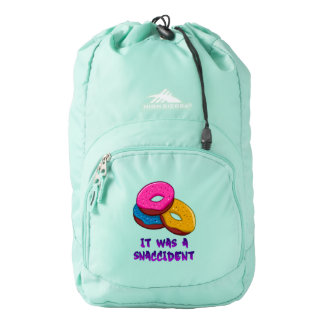 Donuts It was a snaccident Backpack